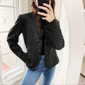 Lauren Ralph Lauren Black & White Pinstripe Blazer